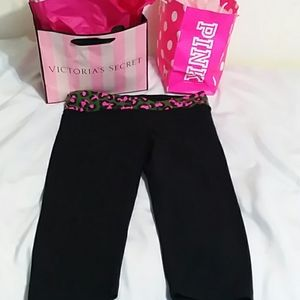 Victoria's Secret Pink Yoga Capris Size Medium